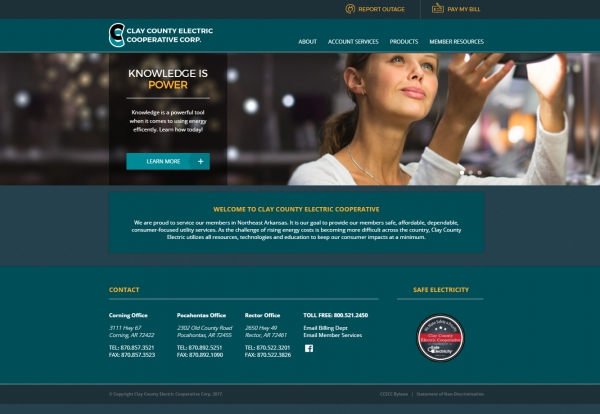 Clay County Electric Cooperative Corporation Website Screenshot