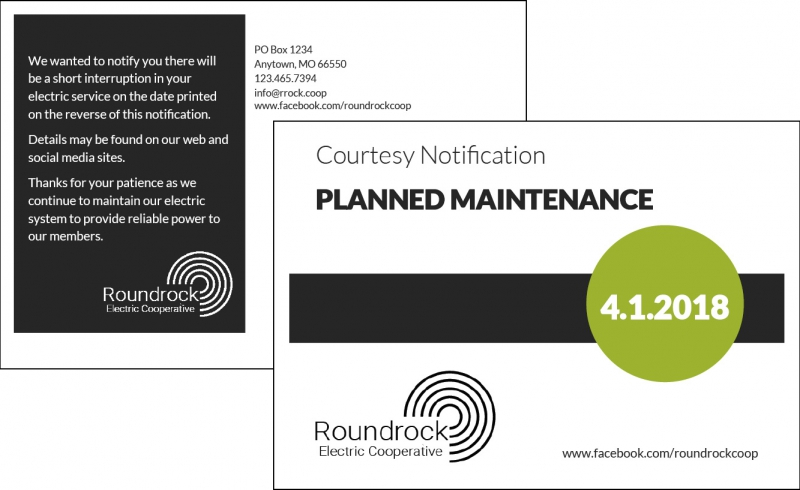 Sample Planned Outage Postcard