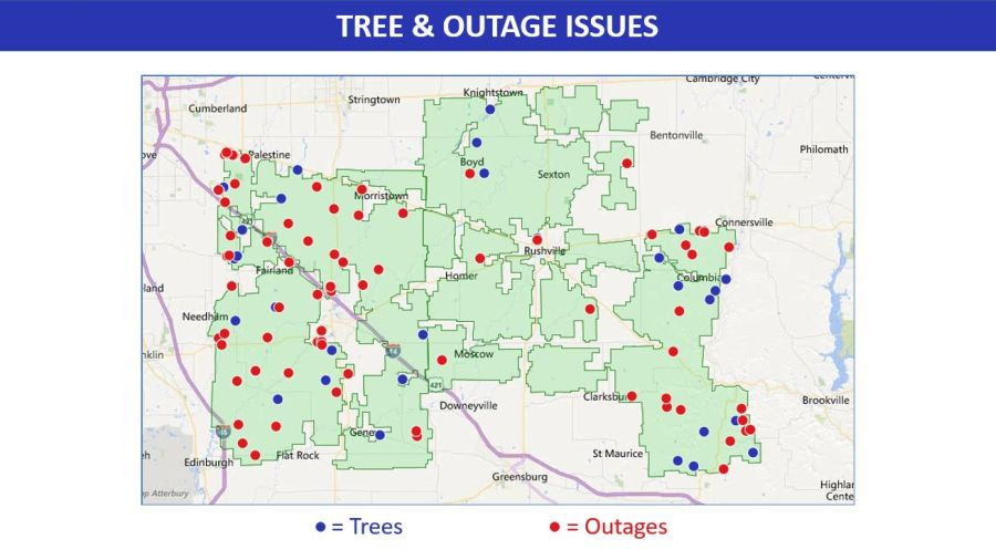 Sample Outage Map